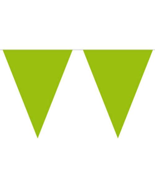 XL-Wimpelgirlande aus Kunststoff - hellgrün - 10 m