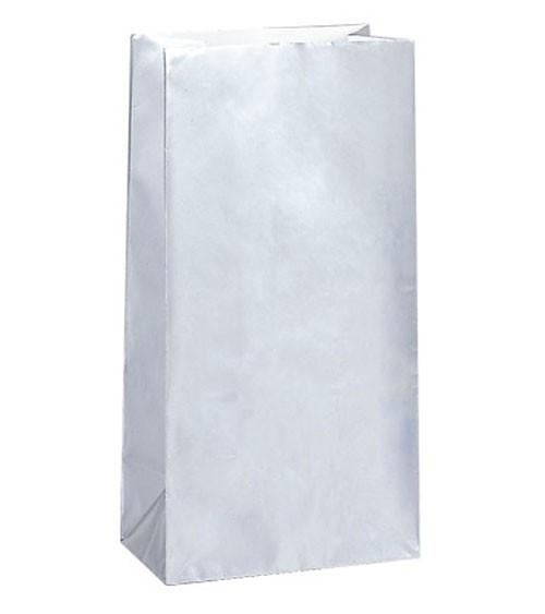 10 Papiertüten - silber