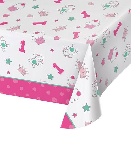 "Kunststoff-Tischdecke ""Happy One - pink"" - 137 x 259 cm"