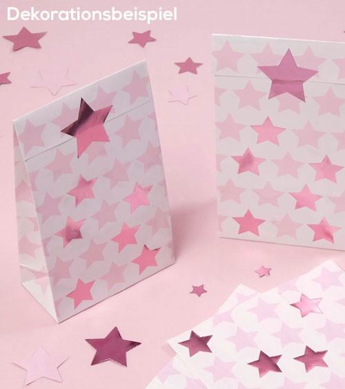 """Partytüten mit Sticker """"Little Star Pink"""" - 5 Stück"""