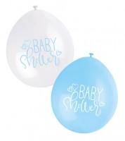 """Luftballon-Set """"Baby Shower"""" - hellblau/weiß - 23 cm - 10 Stück"""