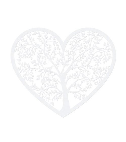 """Papierdekoration """"Herz mit Baum"""" - 10 Stück"""