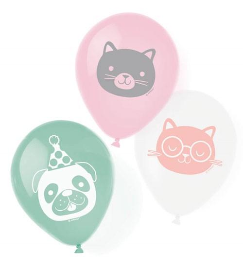 "Luftballon-Set ""Cats & Dogs"" - 6-teilig"