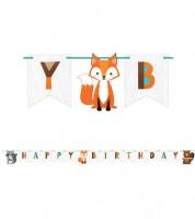 "Happy Birthday Girlande ""Wild One Woodland"" - 2,5 m"