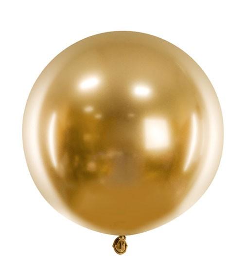 Runder Glossy-Ballon - gold - 60 cm