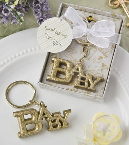 """Schlüsselanhänger """"BABY"""" - gold"""