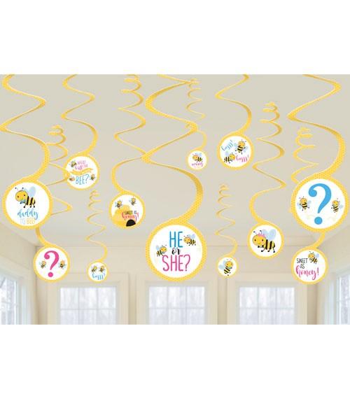 """Spiralgirlanden """"What will it Bee?"""" - 12-teilig"""