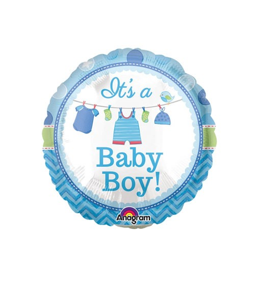 "MiniShape-Folienballon ""Shower With Love - Boy"""