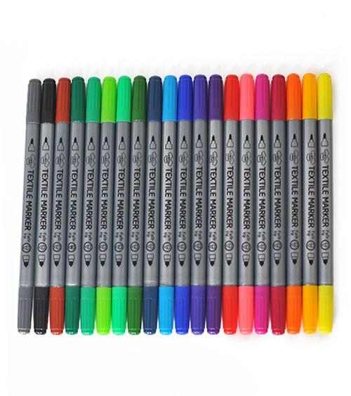 Stoffmalstifte - Farbmix - 20 Stück