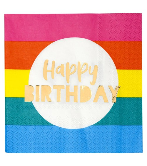 """Servietten """"Birthday Brights"""" - Happy Birthday - 16 Stück"""