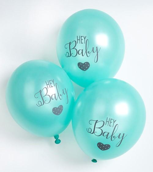 "Luftballons ""Hey Baby"" - mint - 6 Stück"