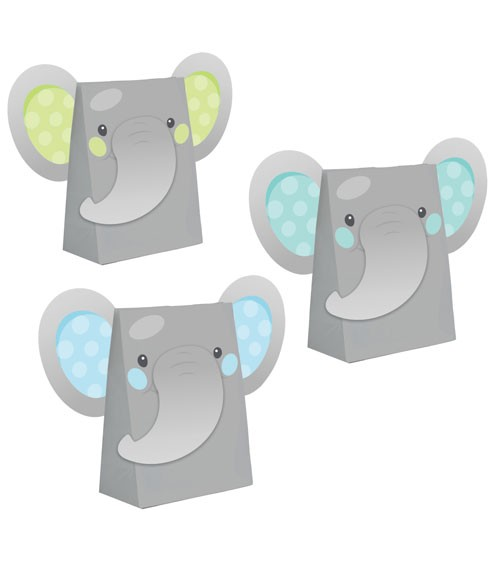 """Partytüten-Set """"Little Elephant - Boy"""" - 8 Stück"""