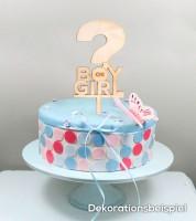 "Cake-Topper ""Boy or Girl"" aus Holz"