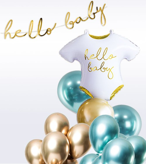 """Babyparty Ballon-Set """"Glossy Mint"""" - 26-teilig"""