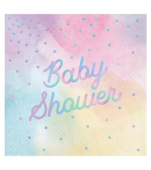 "Servietten ""Iridescent"" - Baby Shower - 16 Stück"