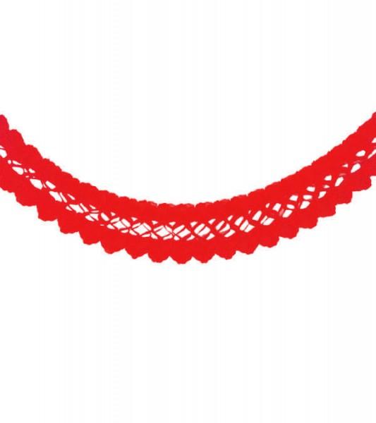 Seidenpapiergirlande - rot - 4 m