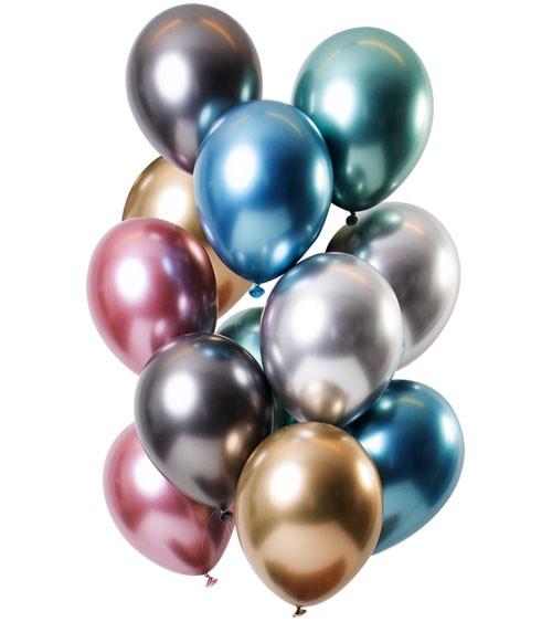 "Luftballon-Set ""Mirror Effekt"" - Farbmix - 12 Stück"