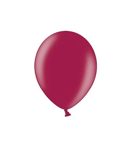 Mini-Luftballons - metallic maroon - 12 cm - 100 Stück