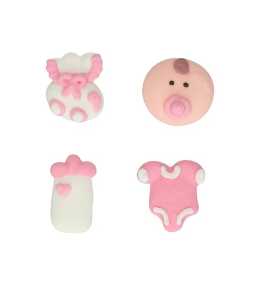 "Funcakes Zuckerdekore ""Baby"" - rosa - 8 Stück"
