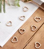Konfetti-Herzen aus Holz - 25 Stück