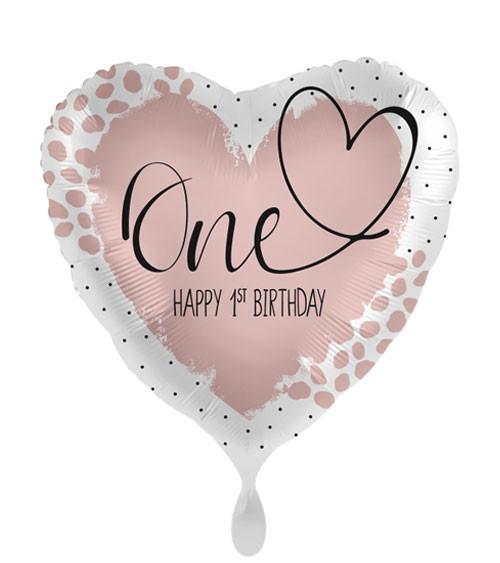 "Herz-Folienballon ""Loving One Birthday"""