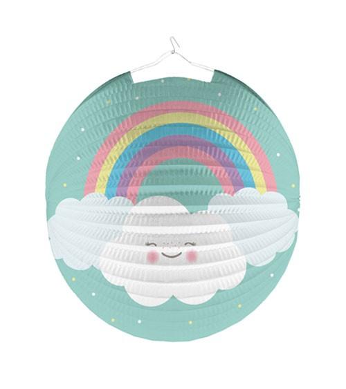 """Lampion """"Regenbogen und Wolke - 25 cm"""