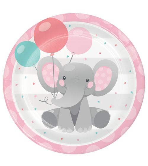 """Pappteller """"Little Elephant - Girl"""" - 8 Stück"""