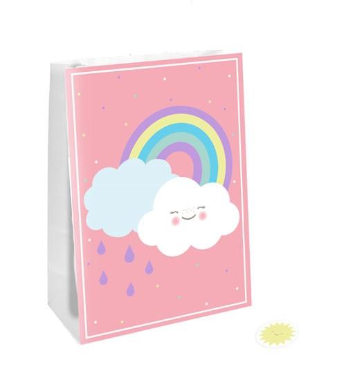 """Papiertüten """"Regenbogen und Wolke"""" - 4 Stück"""