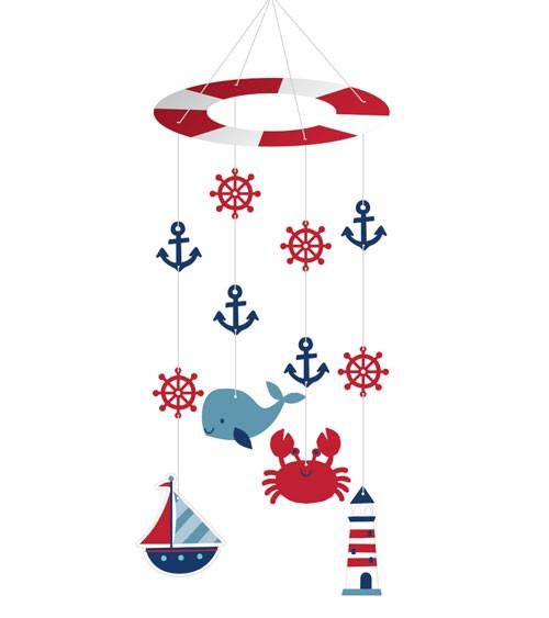 "Deko-Mobile ""Ahoy Baby"" - 23 x 61 cm"