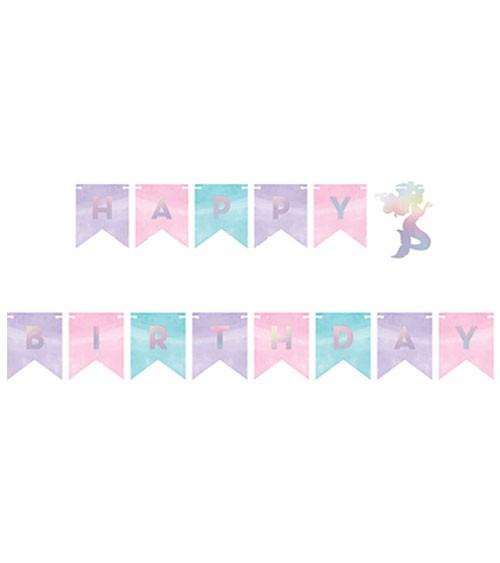 "Happy Birthday-Girlande ""Mermaid Shine"" - 1,6 m"