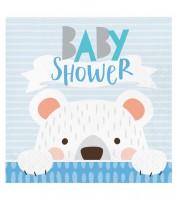 """Servietten """"Kleiner Bär"""" - Baby Shower - 16 Stück"""