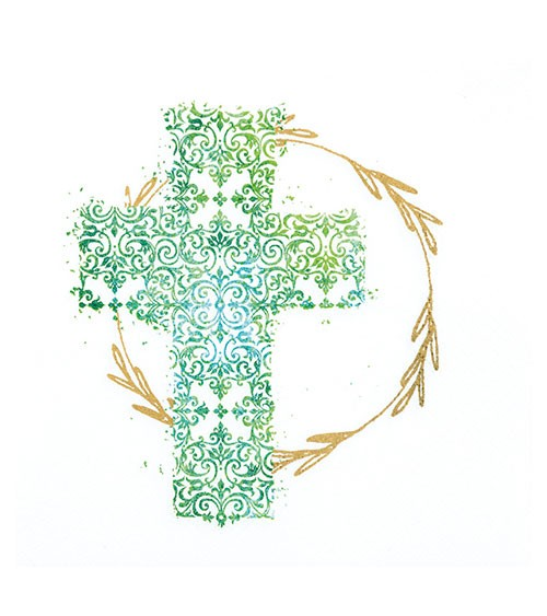 """Servietten """"Kreuz"""" - grün - 20 Stück"""