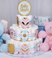 "Windeltortenbastel-Set ""Baby Shower"""