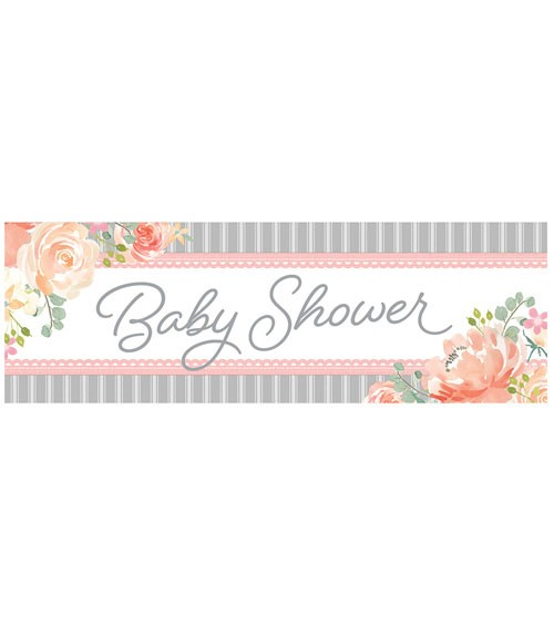 """Großer Partybanner """"Floral Baby"""" - 152 x 51 cm"""