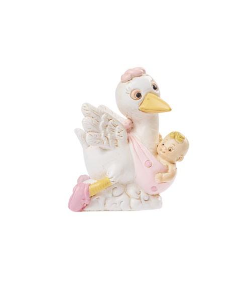 "Deko-Figur ""Baby-Girl Storch"" - 5,5 cm"
