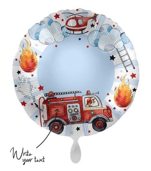 "Folienballon ""Happy Fire Engine"" - personalisierbar"