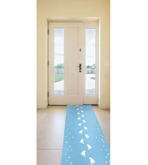 """Läufer """"Babyfüßchen"""" - pastellblau - 0,53 x 2,5 m"""