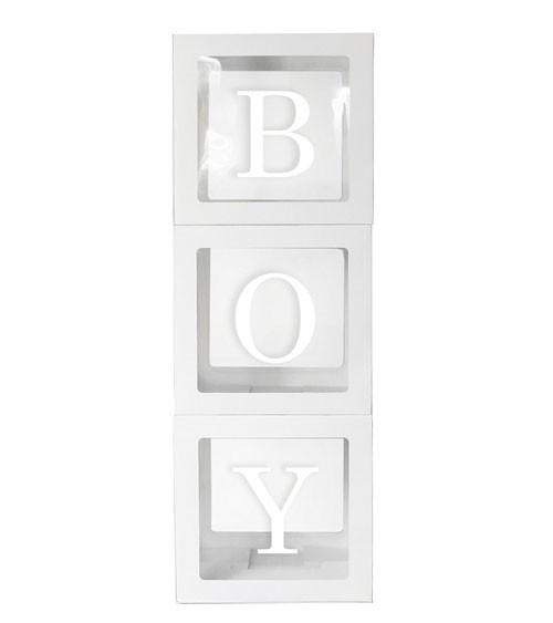 """XXL-Deko-Würfel mit Stickern """"Boy"""""""