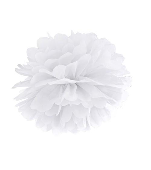 Pom Pom - 25 cm - weiß