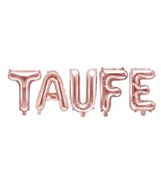 "Folienballon-Set ""Taufe"" - rosegold"