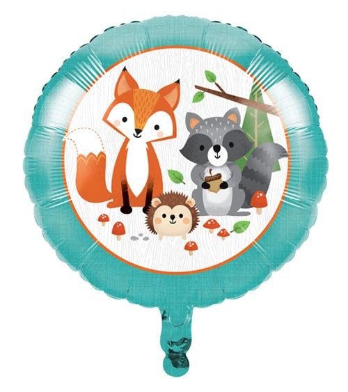"Runder Folienballon ""Wild One Woodland"" - 45 cm"