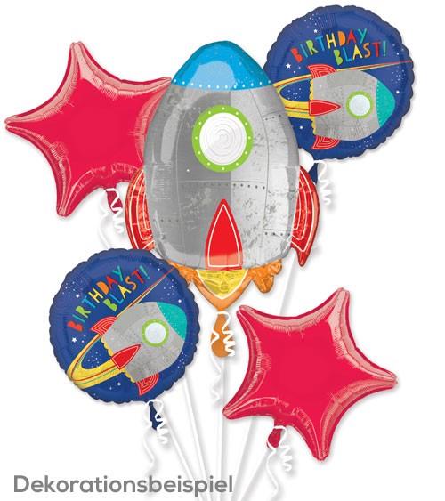 """Folienballon-Set """"Weltraumabenteuer"""" - 5-teilig"""