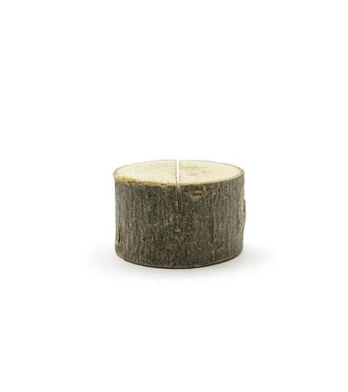 """Tischkartenhalter aus Holz """"Mini-Baumscheiben"""" - 10 Stück"""