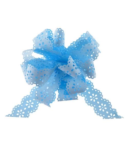 """Ziehschleifen """"Blume"""" - sky blue - 5 Stück"""