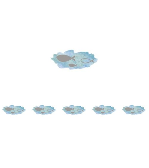 """Washi Tape """"Fische"""" mit Foliendruck - hellblau - 10 m"""