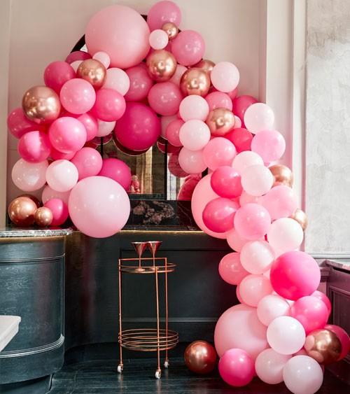 Deluxe Ballongirlanden-Set - Farbmix pink & rosegold - 200-teilig
