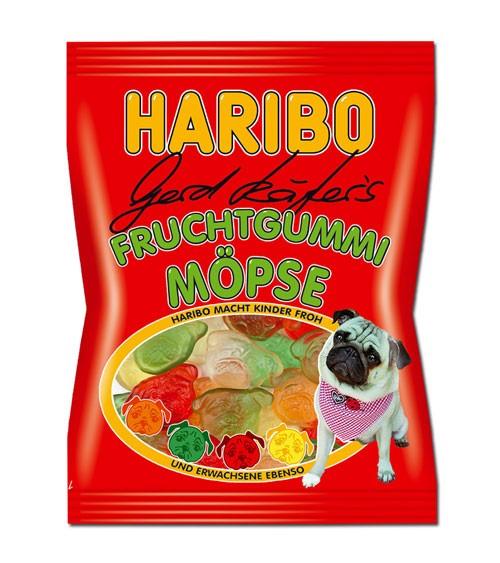 """Haribo """"Gerd Käfers Fruchtgummi Möpse"""" - 200 g"""