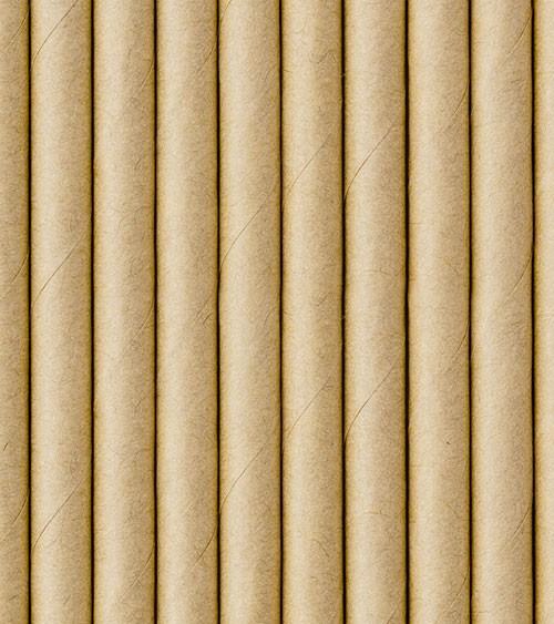 Papierstrohhalme - Kraftpapier - 10 Stück