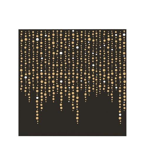 """Cocktail-Servietten """"Goldene Perlen"""" - 24 Stück"""