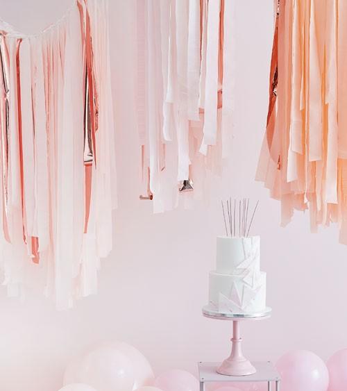Deckendeko-Set mit Kreppbändern - rosa, blush, gelb, rosegold